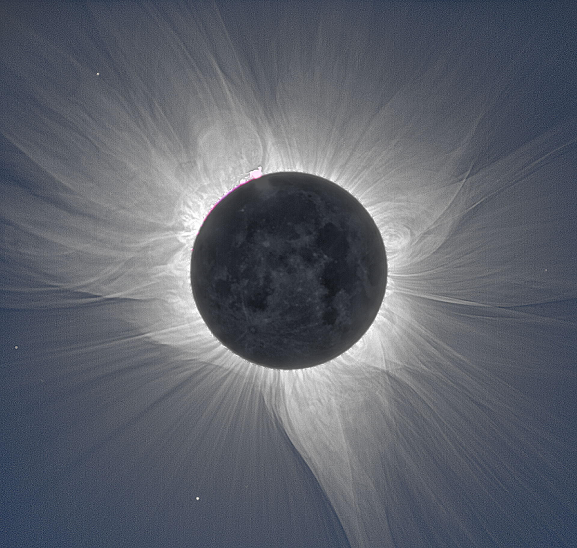 Solar corona image taken during the eclipse over Bangka Island in Indonesia September 3, 2016. Credit Miloslav Druckmüller. Copyrighted images used with permission.